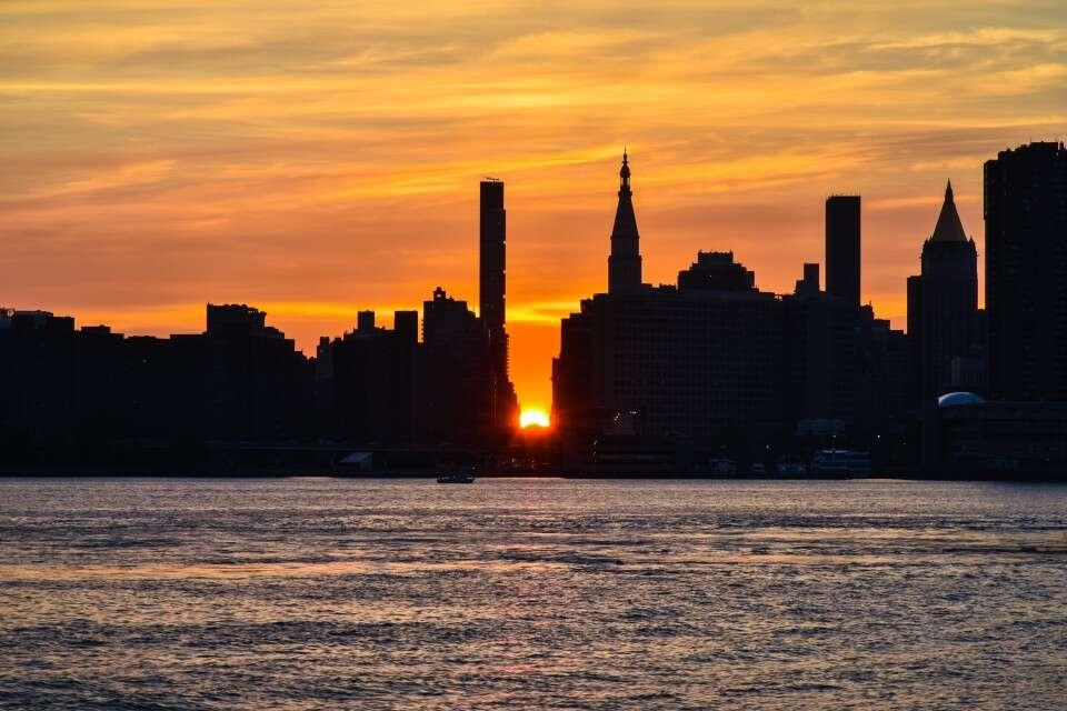 Donde ver el Manhattanhenge