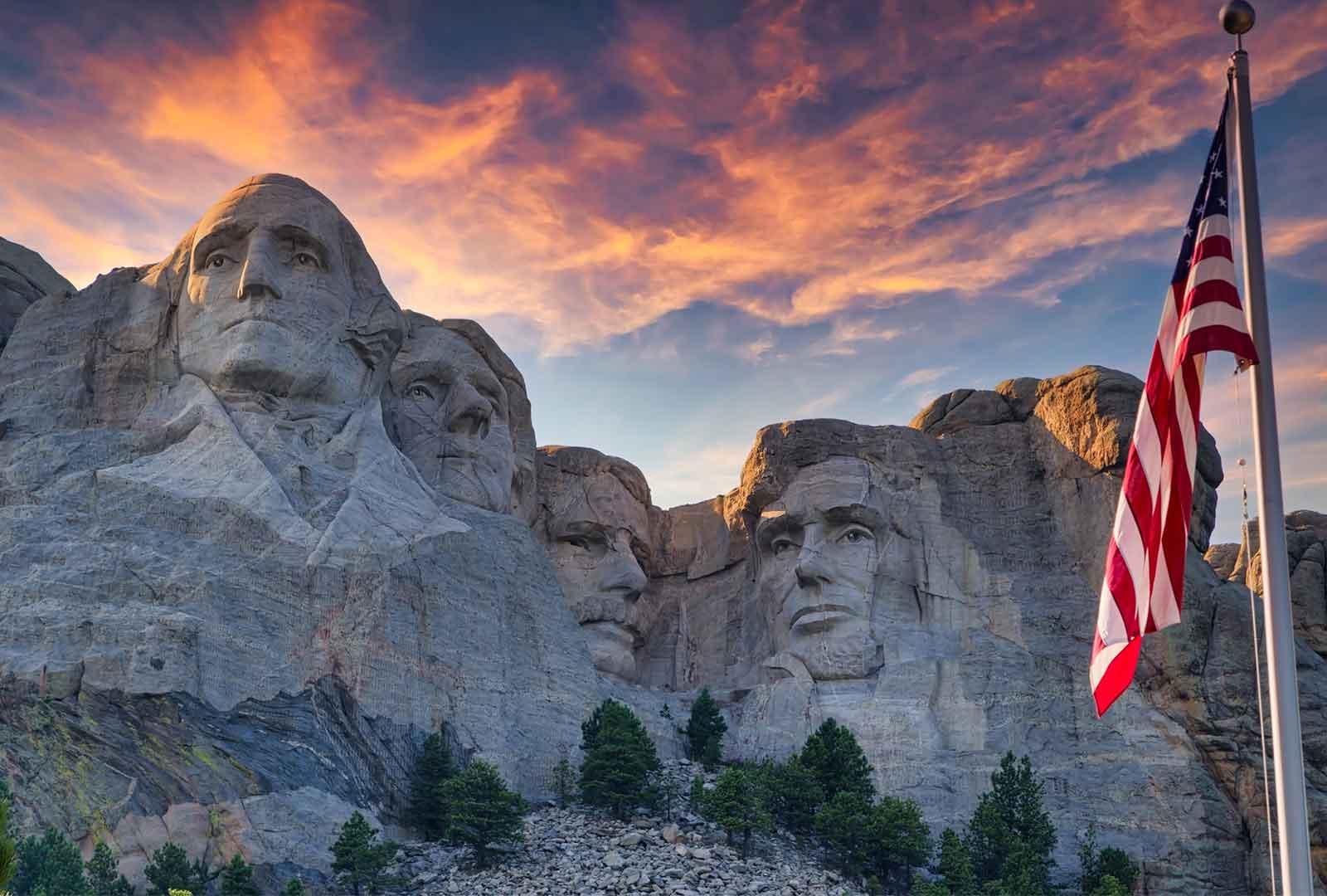 Monte Rushmore Presidentes