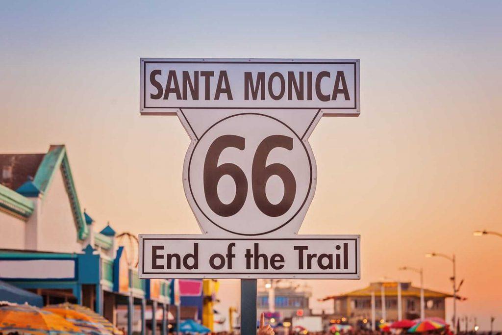 Señal de fin de la ruta histórica 66