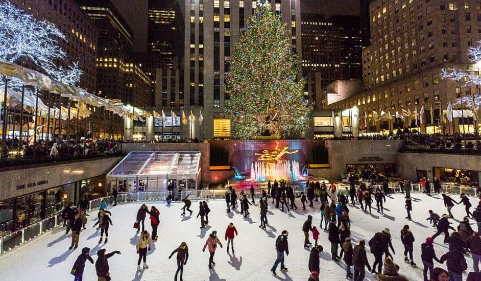 Patinar sobre hielo en Nueva York gratis